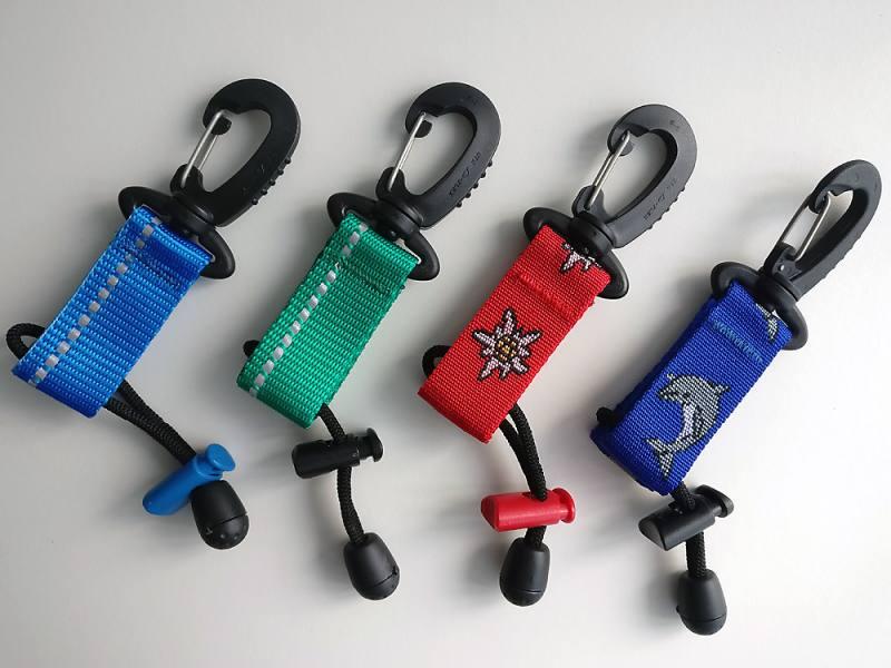Silikon Neckband Befestigung für Atemregler *verschiedene Farben*